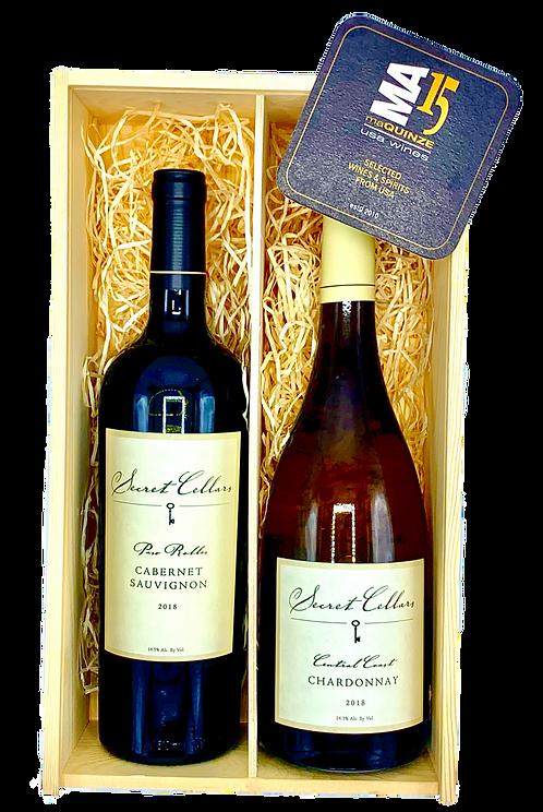 Secret Cellars Gift Box + Gratis houten kistje