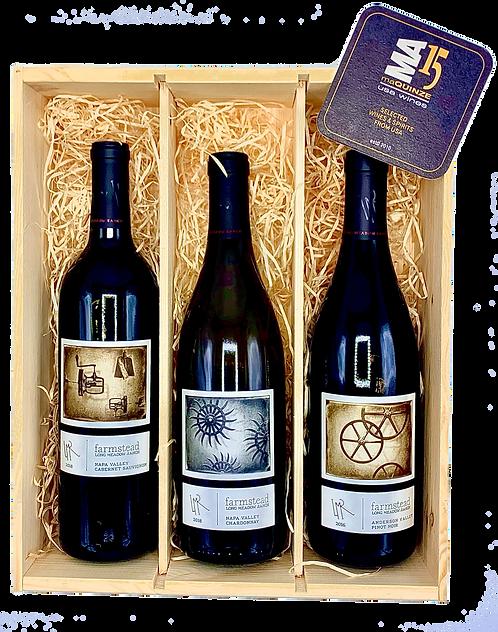 Long Meadow Ranch Winery Gift Box + Gratis houten kistje