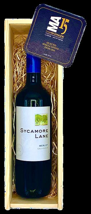 Sycamore Lane Merlot Gift Box + Gratis houten kistje