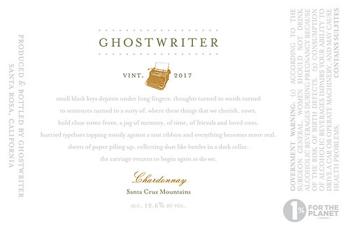 2017 Ghostwriter Santa Cruz Chardonnay