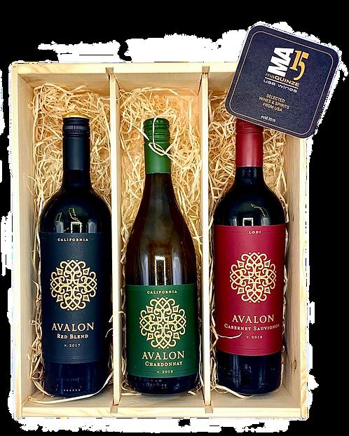 Avalon Winery Gift Box + Gratis houten kistje
