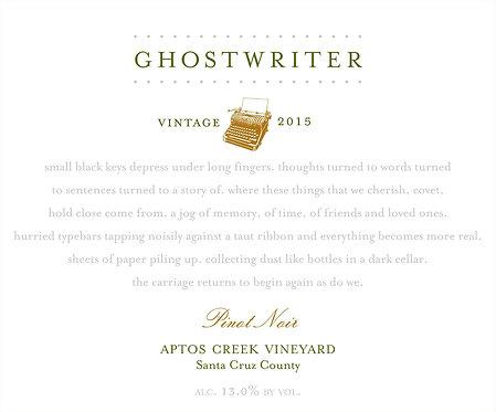 2015 Ghostwriter Aptos Creek Pinot Noir