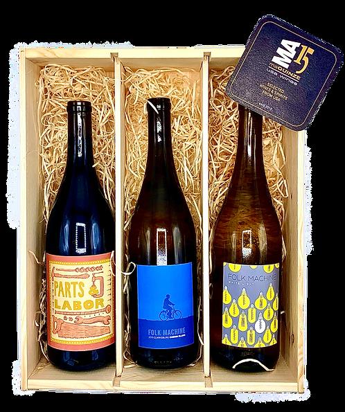 Hobo Winery Trio Gift Box + Gratis houten kistje