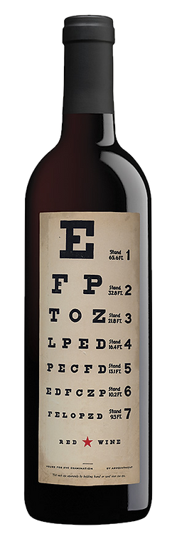 Eye Chart Red Wine