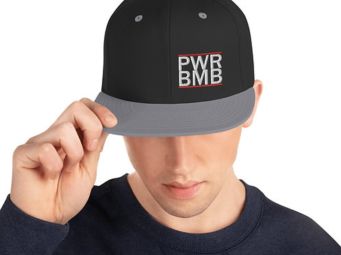 The PWR BMB Snapback Hat
