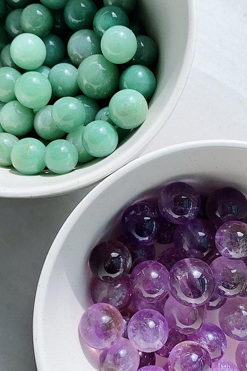 Green Aventurine and Amethyst Mini Sphere