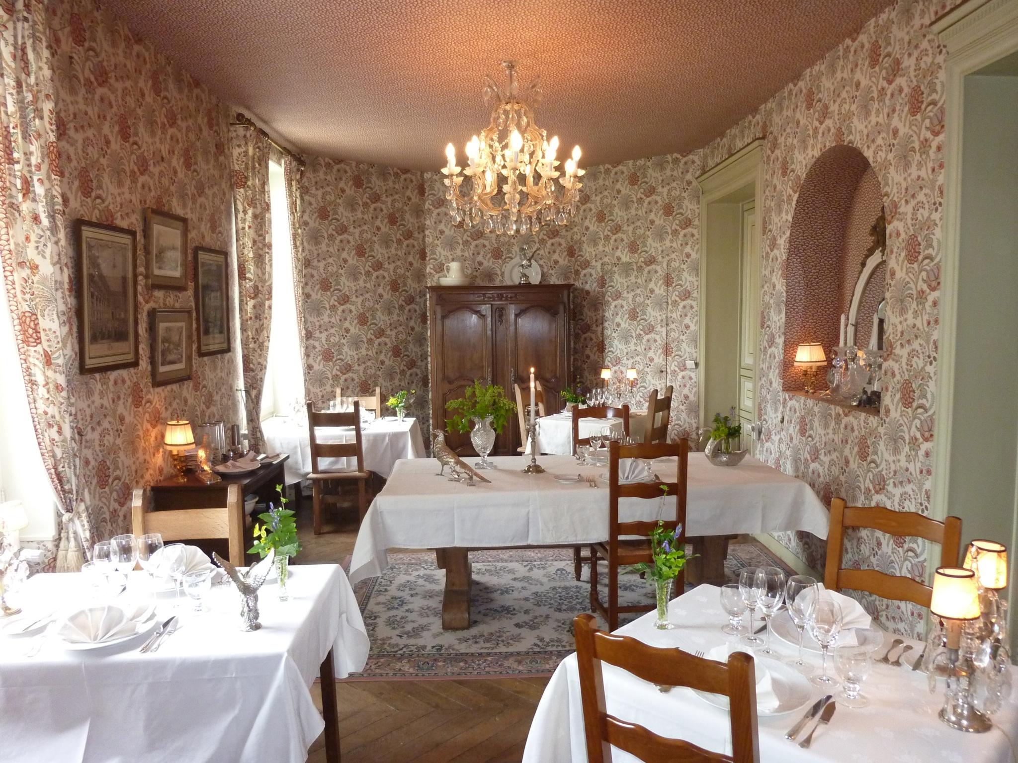 La salle à manger au Domaine Le Parc