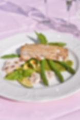 Plat servi lors de notre Menu des Gourmets au Domaine Le Parc à Danizy Chambres et Table d'hôte de Charme et de Luxe
