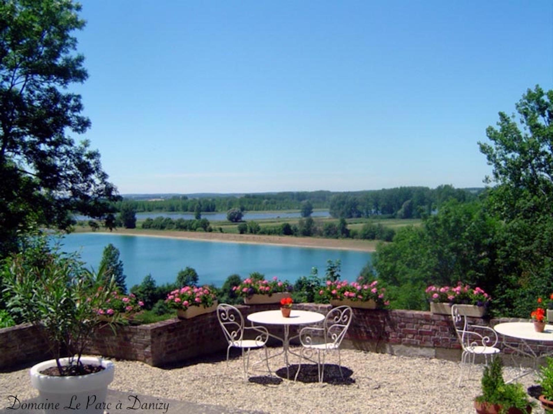 La terrasse côté Vallée de l'Oise