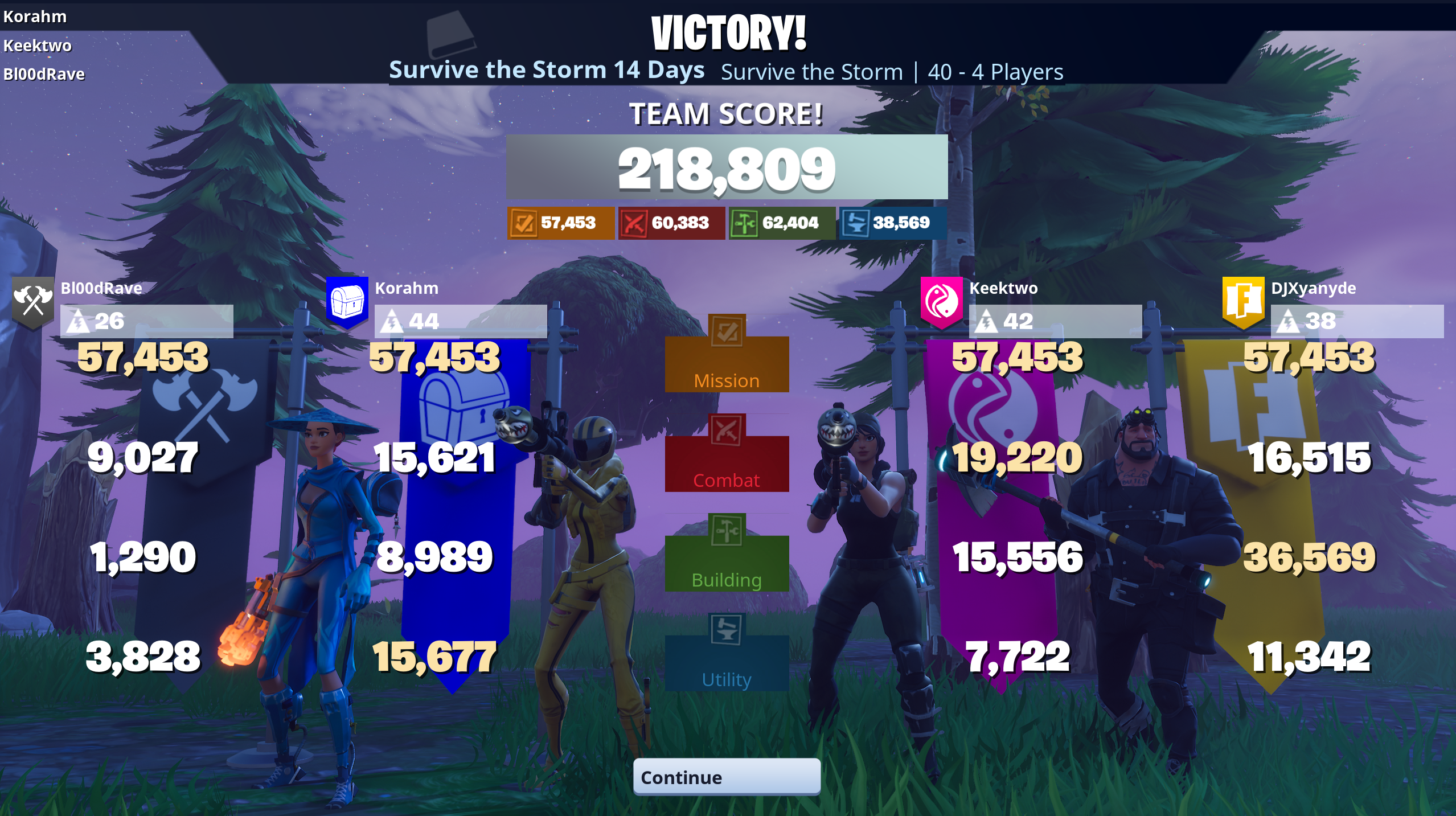 Libra Fortnite 14 day survival