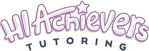 HI Achievers tutoring purple logo in bubble letters