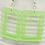 Thumbnail: Rectangle Earrings  ~ Translucent Green