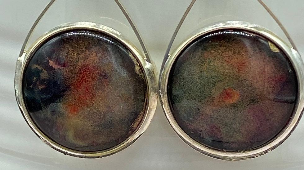 Alcohol Paint Dangle Earrings