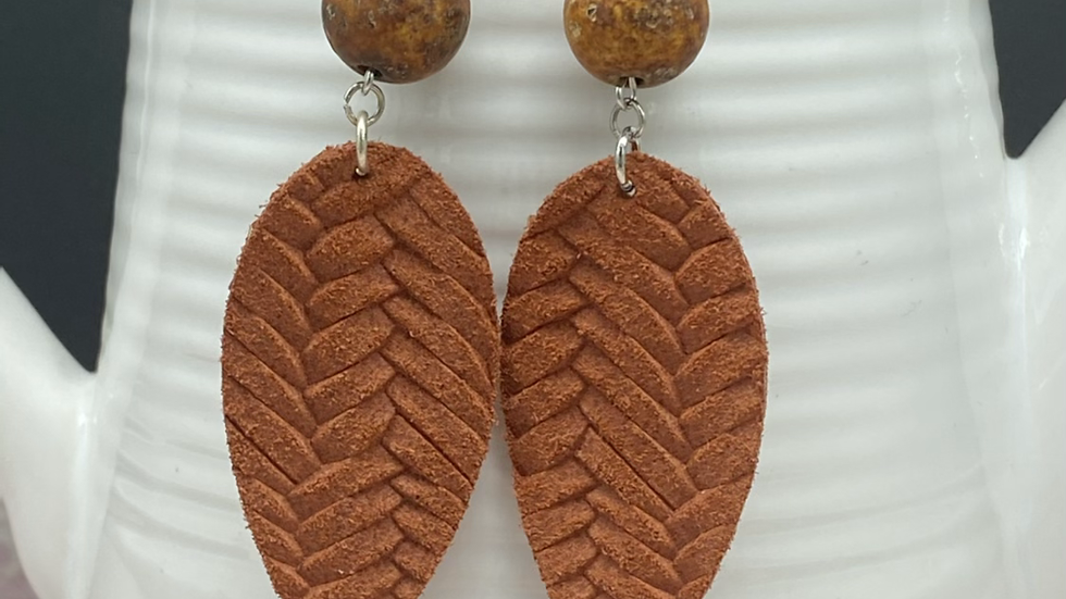 Rust Fishtail Combo Dangle Earrings