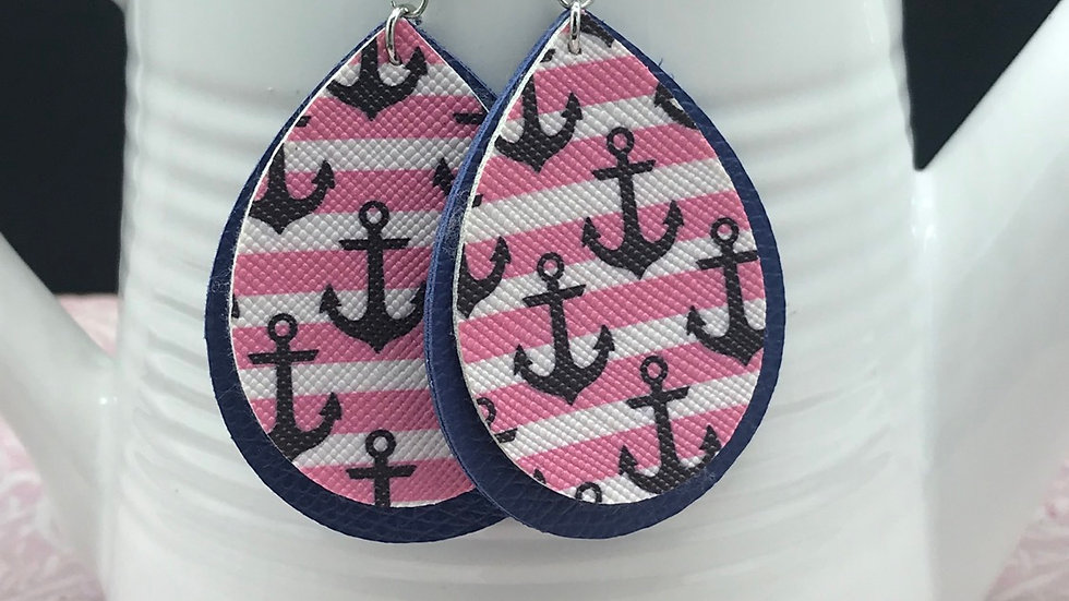 Anchors Away Pink/Blue Dangle