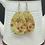 Thumbnail: Vintage Floral Wood Earrings