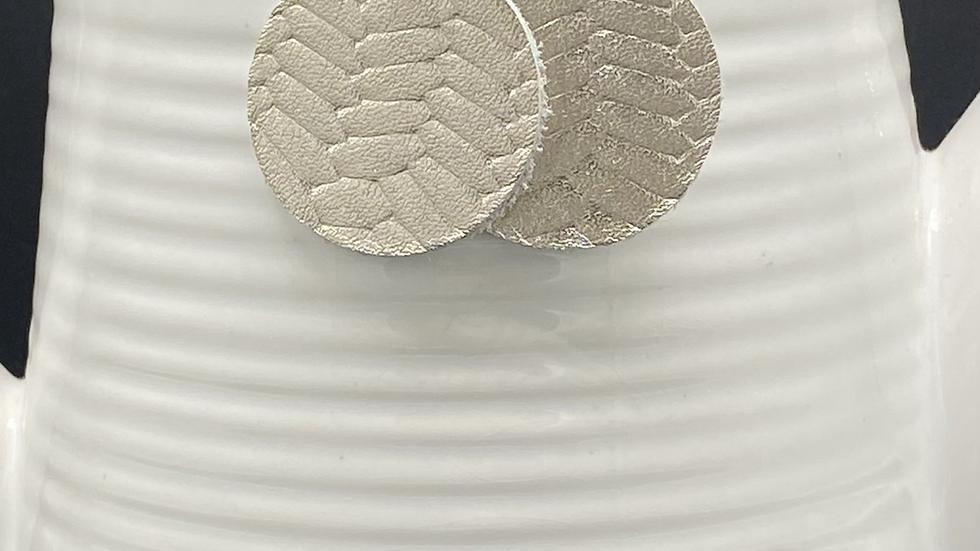 Silver Fishtail Leather Earrings