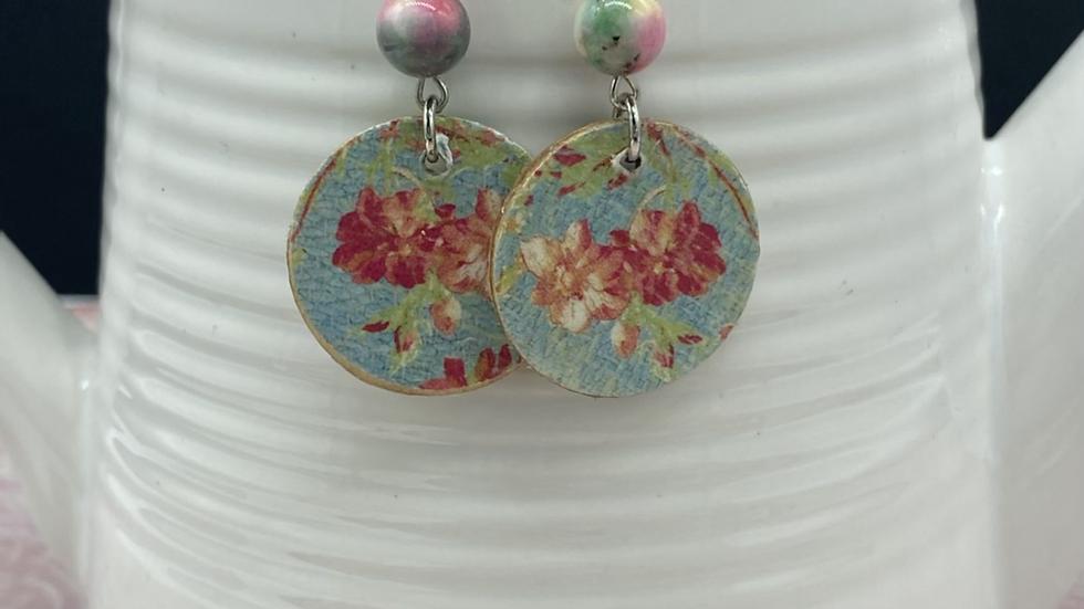 Floral Wood Combo Earrings