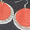 Thumbnail: Red/Silver Fishtail  Leather Earrings