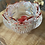 Thumbnail: Floral Tealight Candle Holder / Dish ~ Red/Glitter