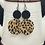 Thumbnail: Leopard/black Duo Dangle Earrings