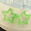 Thumbnail: Star Earrings ~ Green Glitter