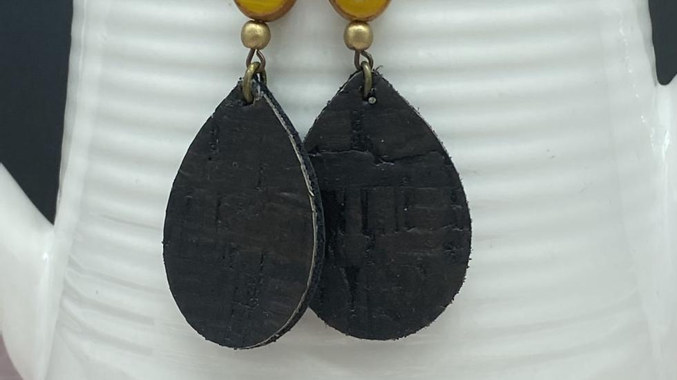Black /Gold Combo Dangle Earrings