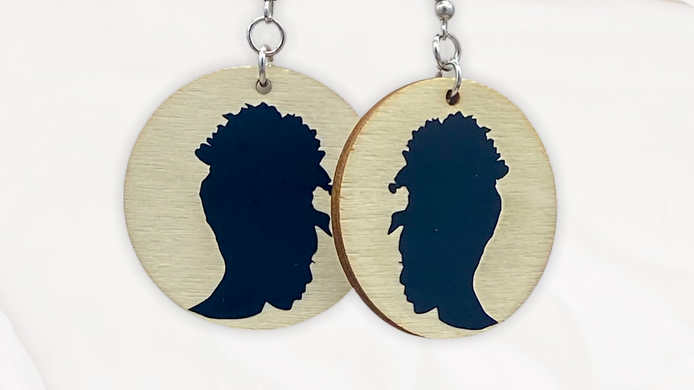 Afro Woman Silouette Earrings II
