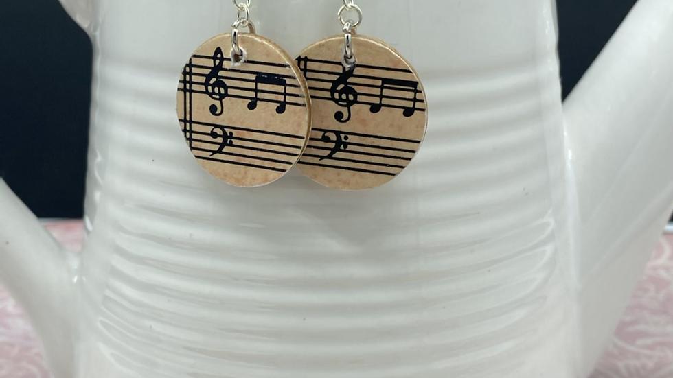 Music Notes Dangle Earrings