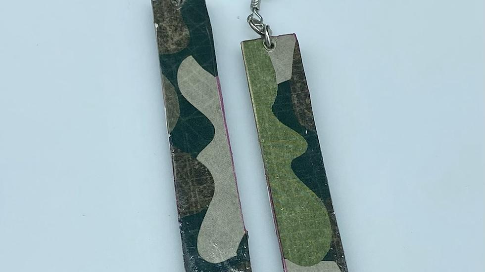 Camouflage Bar Earrings