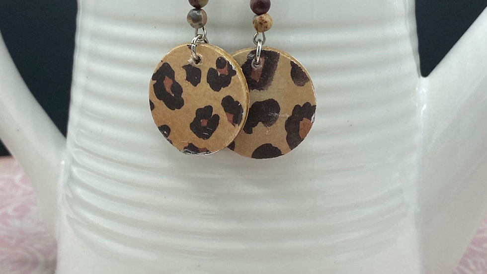 Leopard Bead  Combo Dangle