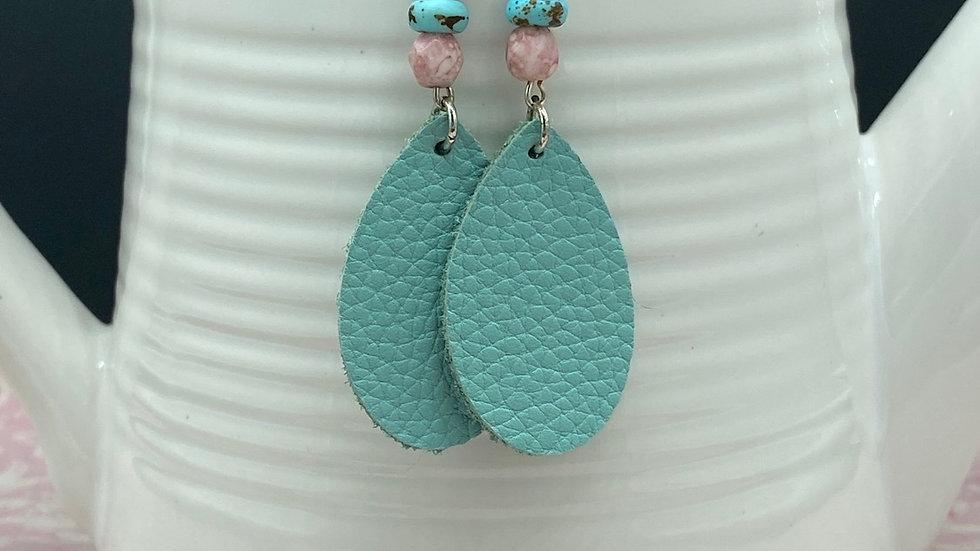 Pink/Blue Boho Dangle