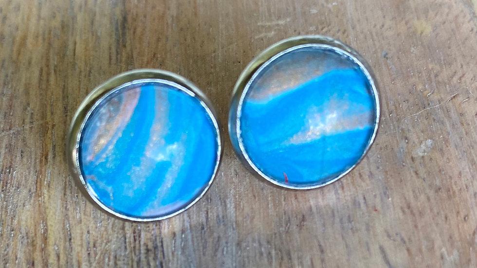 Acrylic Handpainted Stud Earrings - Beach Vibes