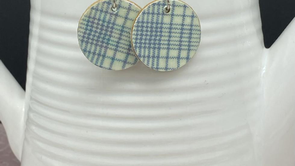 Basic Plaid Dangle Earrings