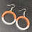 Thumbnail: Two Tone Resin Hoops ~ Rust/Gray
