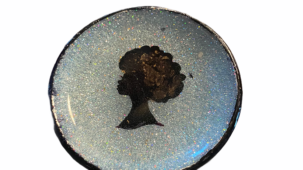 Afro Woman Silouette Trinket Dish