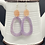 Thumbnail: Two Tone Statement Earrings ~ Purple/Yellow
