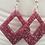 Thumbnail: Red Glitter Earrings ~ Diamond