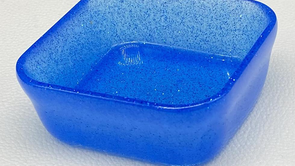 Mini Trinket Dish ~ Blue Square