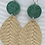 Thumbnail: Natural/Green Dangle Earrings