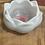 Thumbnail: Lotus Tealight Candle Holder ~ White w pink flower