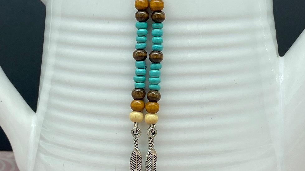 Boho Bead Long Dangle Earrings