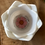 Thumbnail: White Lotus Tealight Holder w Pink flower