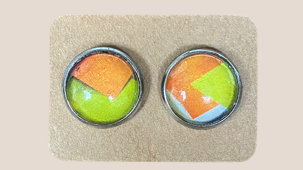 Button  Earrings ~ Geometrics