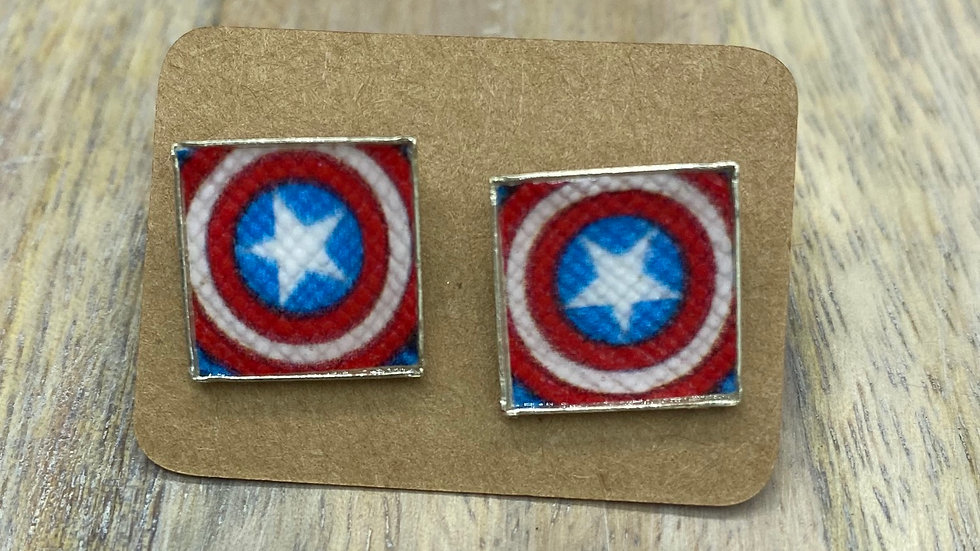 Superhero Stud Earrings