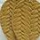 Thumbnail: Mustard Leaf Shaped Leather Earrings