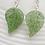 Thumbnail: Green Leaf Earrings