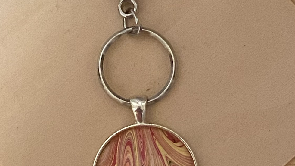 Abstract Flow  Keychain ~ Handpainted