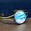 Thumbnail: Fluid Paint Bangle Bracelet ~ Blue/Gray