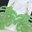 Thumbnail: Monstera Leaf Earrings ~ Light Green